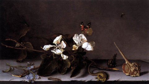 Balthasar Van der Ast Still-Life with Apple Blossoms - Hand Painted Oil Painting