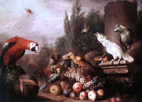 Jakab Bogdany Still-life with Birds - Hand Painted Oil Painting