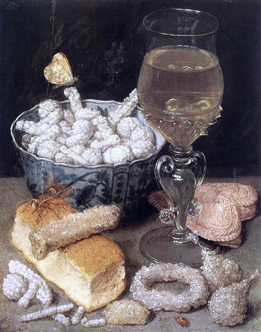 Georg Flegel Still-Life with Bread and Confectionary - Hand Painted Oil Painting