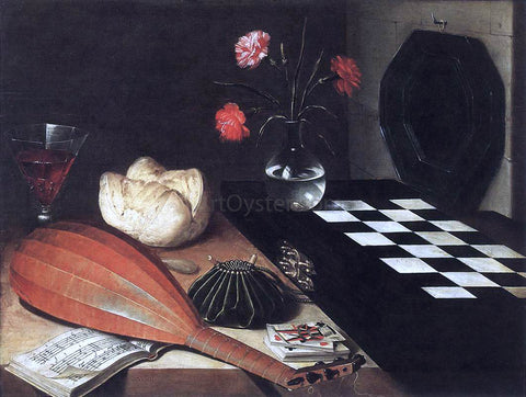 Lubin Baugin Still-Life with Chessboard (The Five Senses) - Hand Painted Oil Painting