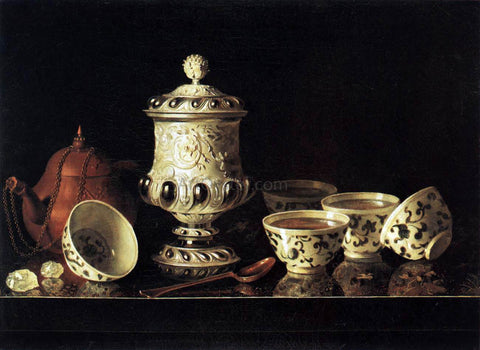 Pieter Gerritsz. Van Roestraeten Still-Life with Chinese Teabowls - Hand Painted Oil Painting