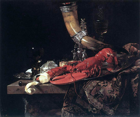 Willem Kalf Still-Life with Drinking-Horn - Hand Painted Oil Painting