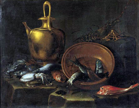 Giuseppe Recco Still-Life with Fish - Hand Painted Oil Painting