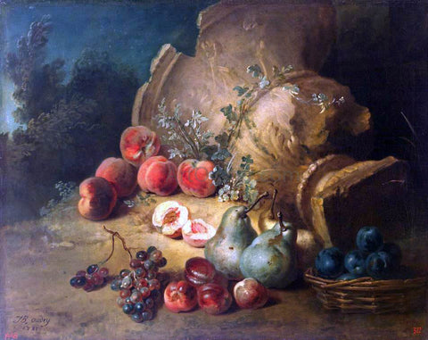 Jean-Baptiste Oudry Still-Life with Fruit - Hand Painted Oil Painting