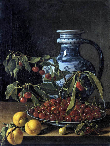 Luis Melendez Still-Life with Fruit and a Jar - Hand Painted Oil Painting