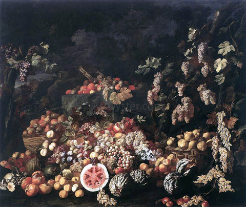 Giuseppe Recco Still-Life with Fruit and Flowers - Hand Painted Oil Painting