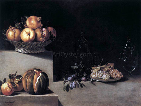 Juan Van der Hamen Still-Life with Fruit and Glassware - Hand Painted Oil Painting