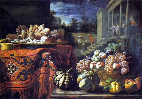 Pier Francesco Cittadini Still-Life with Fruit and Sweets - Hand Painted Oil Painting