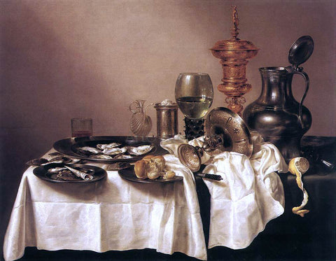 Willem Claesz Heda Still-Life with Gilt Goblet - Hand Painted Oil Painting