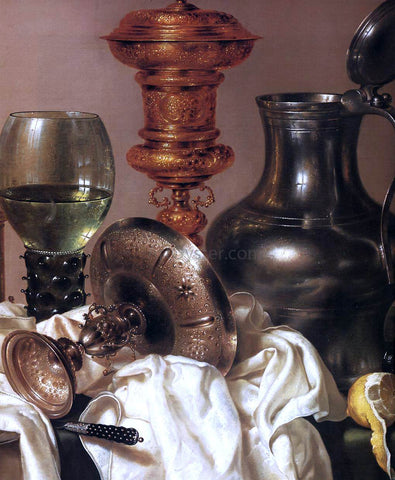 Willem Claesz Heda Still-Life with Gilt Goblet (detail) - Hand Painted Oil Painting