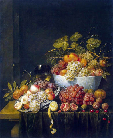 Adriaen Van Utrecht Still-Life with Grapes - Hand Painted Oil Painting