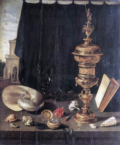 Pieter Claesz Still-Life with Great Golden Goblet - Hand Painted Oil Painting
