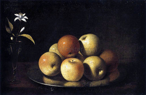 Juan De Zurbaran Still-Life with Plate of Apples and Orange Blossom - Hand Painted Oil Painting