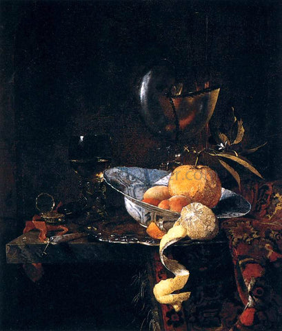 Willem Kalf Still-Life with Porcelain and a Nautilus Cup - Hand Painted Oil Painting