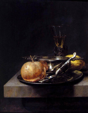 Cornelis Kick Still-Life with Silver Cup - Hand Painted Oil Painting