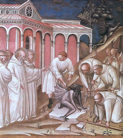 Spinello Aretino Stories from the Legend of St Benedict - Hand Painted Oil Painting