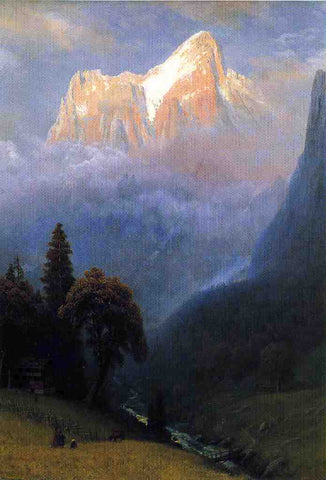 Albert Bierstadt Storm Among the Alps - Hand Painted Oil Painting
