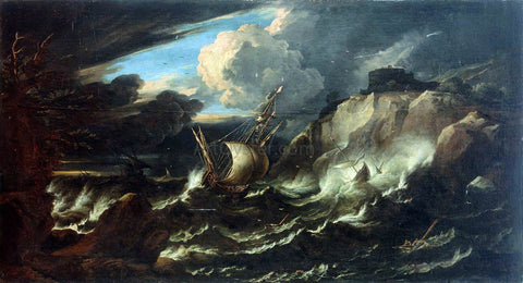 The Younger Pieter Mulier Storm at Sea - Hand Painted Oil Painting