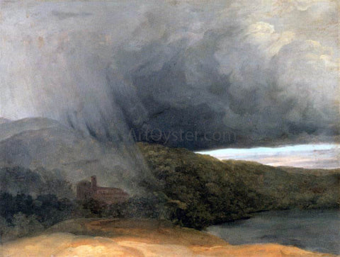 Pierre-Henri De Valenciennes Storm by a Lake - Hand Painted Oil Painting