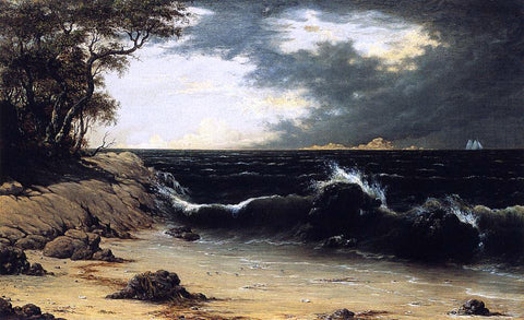 Martin Johnson Heade Storm Clouds over the Coast - Hand Painted Oil Painting