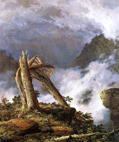 Frederic Edwin Church A Storm in the Mountains - Hand Painted Oil Painting