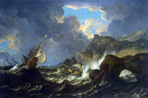 The Younger Pieter Mulier Storm in the Sea - Hand Painted Oil Painting