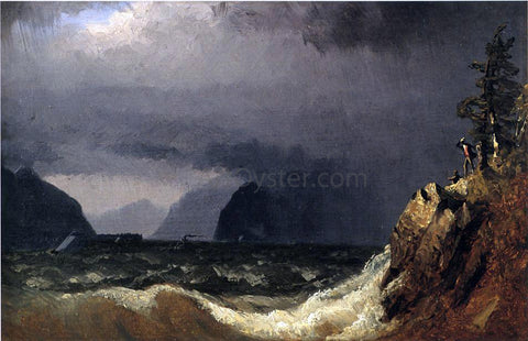 Sanford Robinson Gifford Storm King of the Hudson - Hand Painted Oil Painting