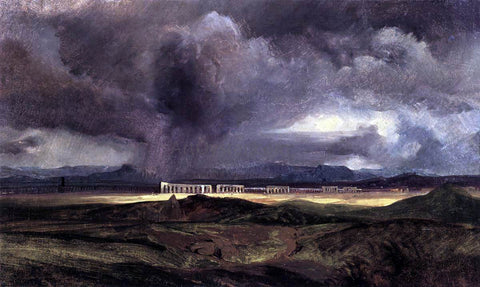 Carl Blechen Stormy Weather over the Roman Campagna - Hand Painted Oil Painting