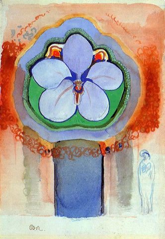 Odilon Redon Strange Orchid - Hand Painted Oil Painting