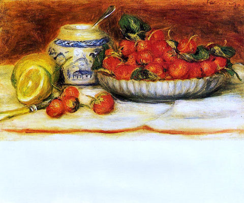 Pierre Auguste Renoir Strawberries - Hand Painted Oil Painting