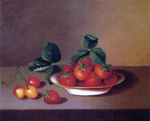 Margaretta Angelica Peale Strawberries and Cherries - Hand Painted Oil Painting