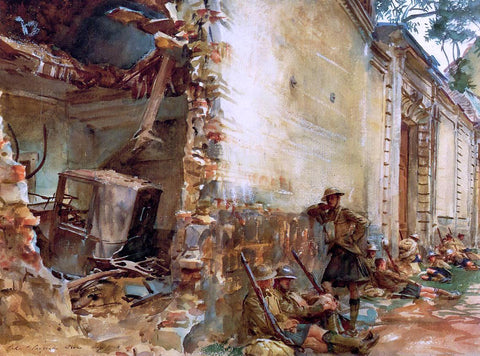 John Singer Sargent Street in Arras - Hand Painted Oil Painting