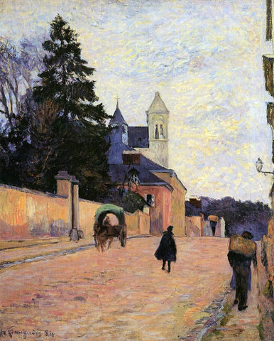 Paul Gauguin Street in Rouen - Hand Painted Oil Painting