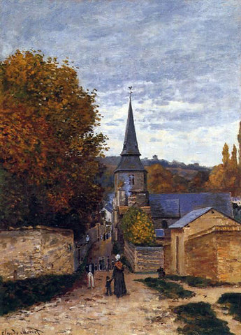 Claude Oscar Monet Street in Saint-Adresse - Hand Painted Oil Painting