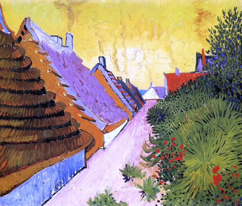 Vincent Van Gogh Street in Saintes-Maries - Hand Painted Oil Painting
