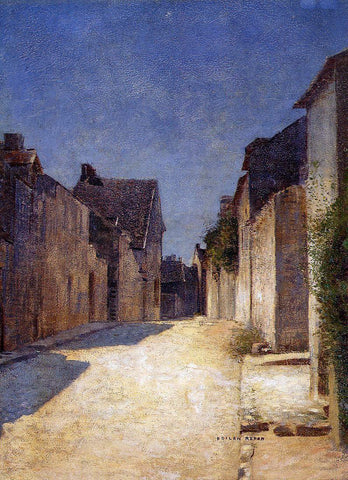 Odilon Redon Street in Samois - Hand Painted Oil Painting