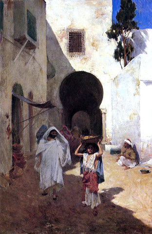 Willard Leroy Metcalf Street Scene, Tangiers - Hand Painted Oil Painting