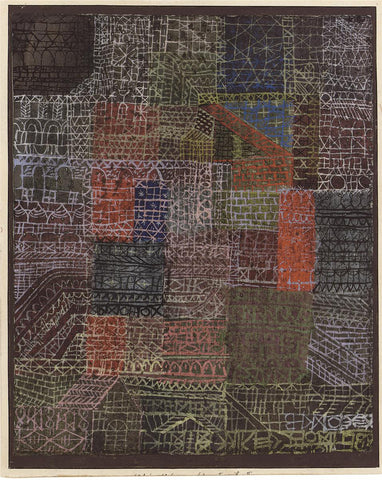 Paul Klee Structural II - Hand Painted Oil Painting