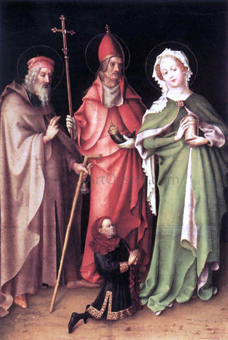 Stefan Lochner Sts Anthony the Hermit, Cornelius and Mary Magdalen with a Donor - Hand Painted Oil Painting