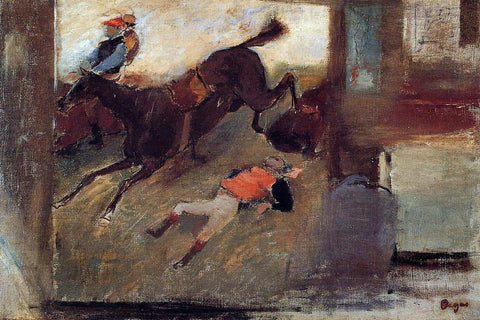 Edgar Degas Studio Interior with 'The Steeplechase' - Hand Painted Oil Painting