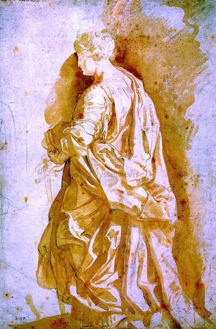 Peter Paul Rubens Study for a Standing Female Saint - Hand Painted Oil Painting