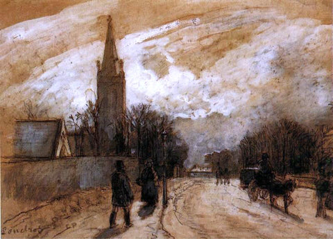 Camille Pissarro Study for 'All Saints' Church, Upper Norwood' - Hand Painted Oil Painting