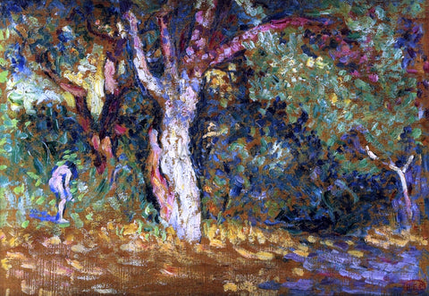Henri Edmond Cross Study for 'In the Woods with Female Nude' - Hand Painted Oil Painting
