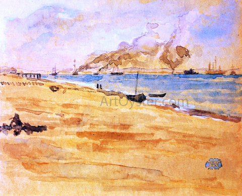 "James McNeill Whistler Study for ""Mouth of the River"" - Hand Painted Oil Painting"