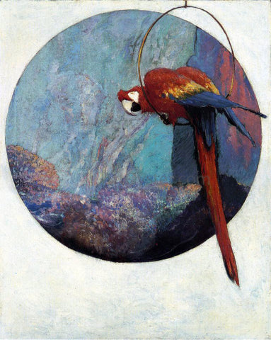"Robert Lewis Reid Study for ""Polly"" - Hand Painted Oil Painting"