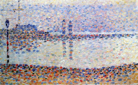 Georges Seurat Study for 'The Channel at Gravelines' - Hand Painted Oil Painting