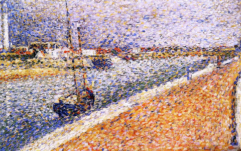 Georges Seurat Study for 'The Channel at Grvelines, Petit-Fort-Phillipe - Hand Painted Oil Painting