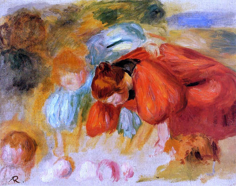 Pierre Auguste Renoir Study for 'The Croquet Game' - Hand Painted Oil Painting