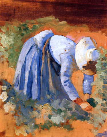 Henri Edmond Cross Study for 'The Grape Pickers' - Hand Painted Oil Painting