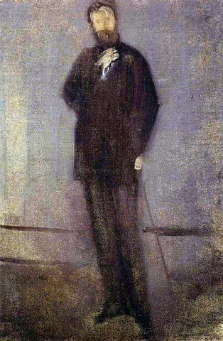 James McNeill Whistler Study for the Portrait of F. R. Leyland - Hand Painted Oil Painting